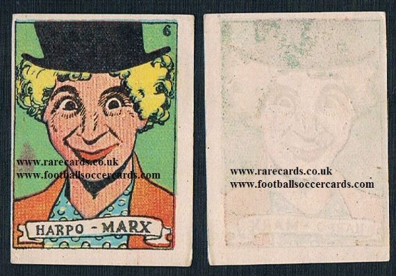 1930s Spanish Harpo Marx card